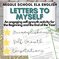 First Day of School Activity (English ELA 6th, 7th, 8th, 9th Grade) Letters to Myself