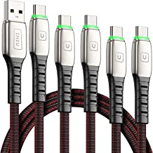 INIU USB C Cable, 【5 Pack 3.1A】 QC 3.0 Fast Charging USB Type C Cable, (1.6+3.3+3.3+6.6+6.6ft) Nylon Charger USB-C Cables for Samsung Galaxy S20 S10 S9 S8 Plus Note 10 9 LG V50 Google Pixel OnePlus
