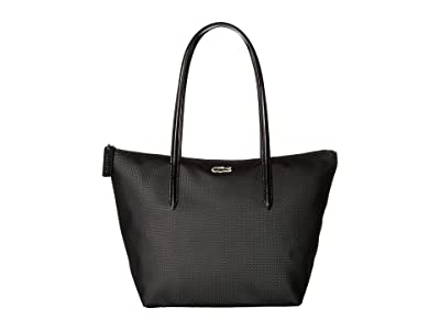 Lacoste L.12.12 Concept Small Shopping Bag (Black) Handbags
