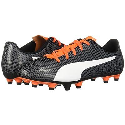 Puma Kids Spirit FG Soccer (Little Kid/Big Kid) (Puma Black/Puma White/Shocking Orange) Kids Shoes