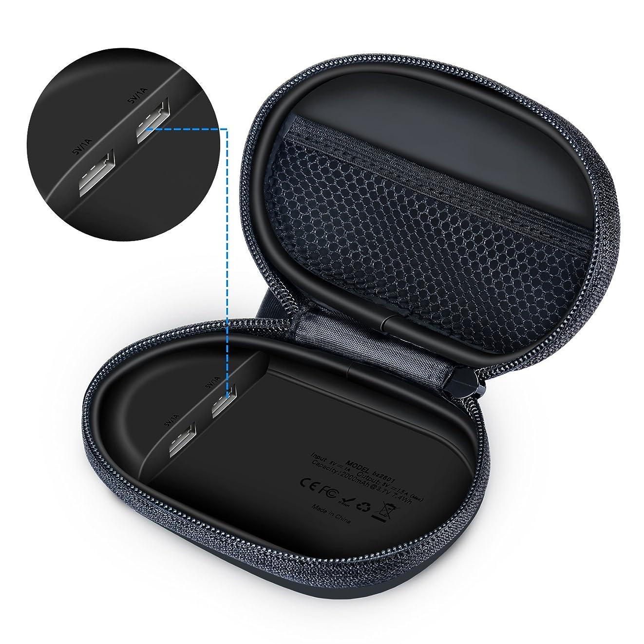 コンパニオン量で申請者Gubest For JBL UA Heart Rate 充電器 収納ケース PowerBeats 3 BeatsX ワイヤレスヘッドフォン 対応 キャリングケース 充電ケース