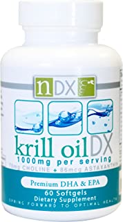 Natural Dynamix Krill Oil DX Fish Oil Supplements, 60 Softgels