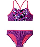 Diamond Geo Splice Two-Piece Swimsuit (Big Kids)