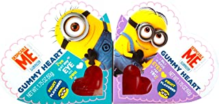 Despicable Me Valentine's Day Gummy Heart Fruit Flavored To/from Pack of 2