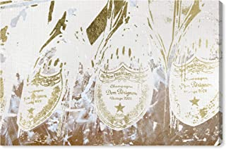 The Oliver Gal Artist Co. Drinks and Spirits Wall Art Canvas Prints 'Champagne Showers' Home Décor, 24