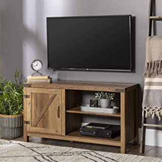 WE Furniture AZ44BD1DRO Modern Farmhouse Barn DoorWood Stand for TV's up to 48