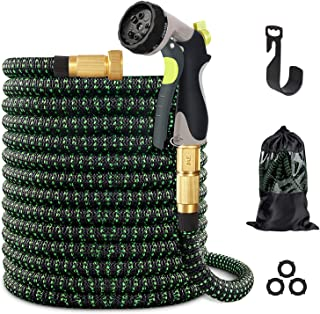 vantiorango Upgraded 100ft Expandable Garden Hose, 10 Function Nozzle, Lightweight Flexible Garden Sprayer Hoses
