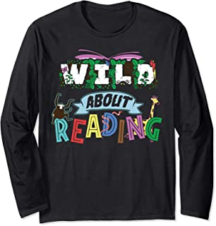 Best wild about reading t shirt Reviews
