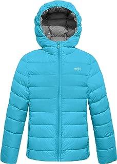 Boy's Lightweight Puffer Hooded Down Jacket Packable Outdoor Windbreaker