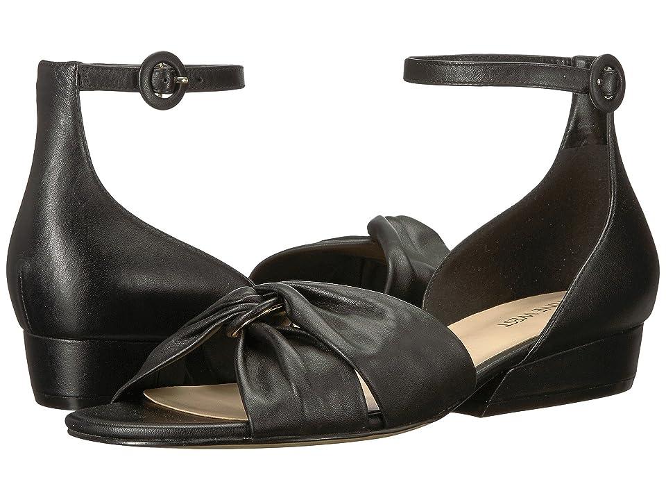 Nine West Lumsi Sandal (Black Leather) Women's Sandals