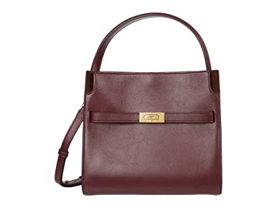 Tory Burch Lee Radziwill Small Double Bag (Claret) Handbags