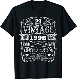 Made In 1998 21 Years Old Vintage 21st Birthday Gift T-Shirt