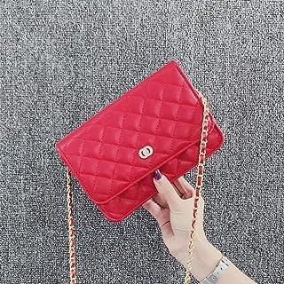 Desconocido Bag Women ins Fashion Wild Shoulder Messenger Bag Rhombus Chain
