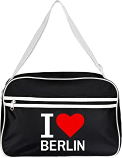 Bolso Classic I love Berlin retro colour negro
