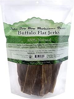 Papa Bow Wow Buffalo Treats for Dogs,  Jerky Flat  6in 1 lb