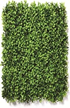 Go Hooked Artificial Small Leaves Vertical Plastic Wall Grass Tiles (Green, Set of 3)
