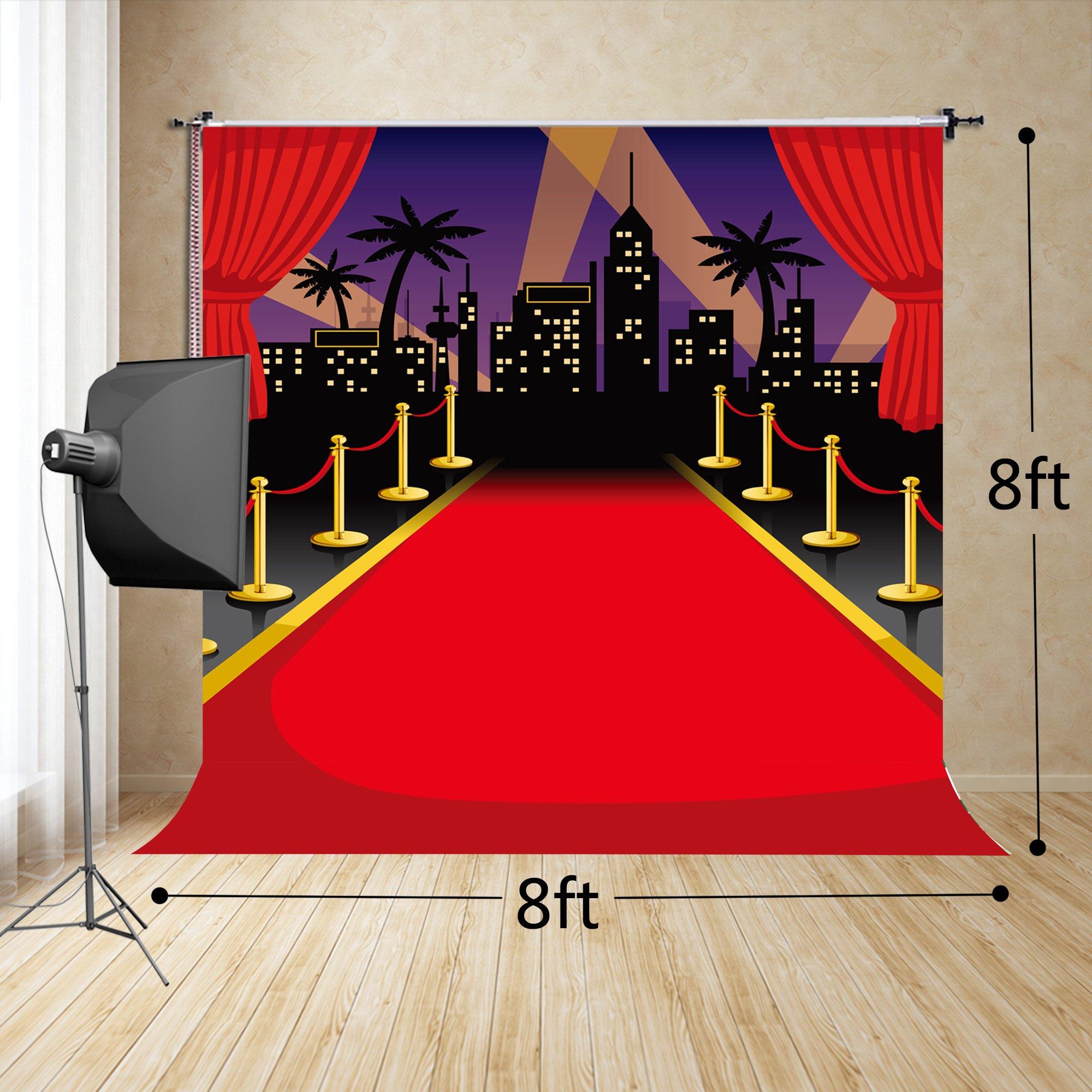 Amazon Com Fivan Us 8x8ft 250x250cm Red Carpet Cartoon Stage For Baby Children Birthday Photos Fd 3226 Electronics