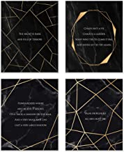 Game of Thrones Quote Prints - Set of 4 (8x10) A Song of Fire and Ice Iconic Wall Art Decor - Littlefinger Petyr Baelish - The Spider Lord Varys - Red Priestess Melisandre - Faceless Man Jaqen H'ghar