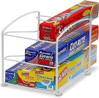 Simple Houseware Kitchen Wrap Organizer Rack, White