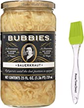 Bubbies Sauerkraut, 25 Ounce with PrimeTime Direct Silicone Basting Brush in a PTD Sealed Bag