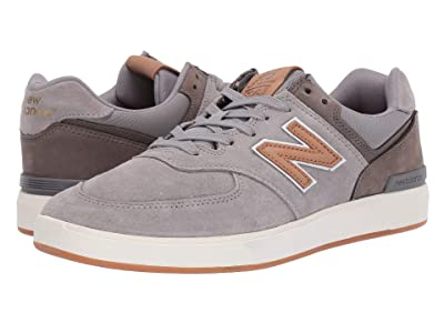 New Balance Numeric AM574 (Grey/Tan) Men