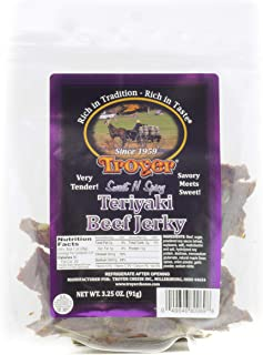 Troyer Sweet and Spicy Teriyaki Beef Jerky 3.25 Ounces