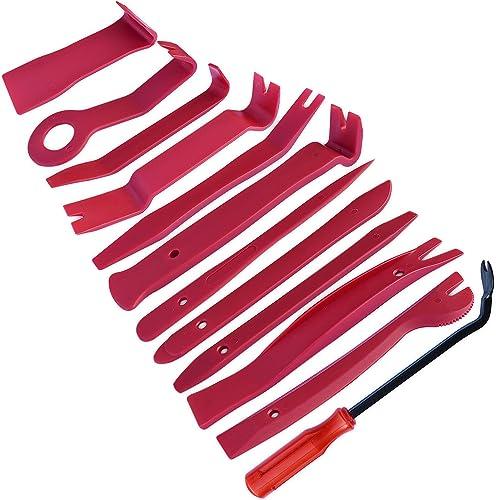 homEdge Kits de Retrait Automatique de la Garniture de 12 pièces, Trousses à Outils pour l'installation d'autoradio, ...