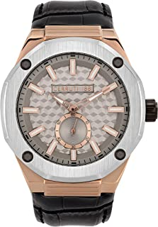 Cerruti 1881 Razzuolo Men Analogue Watch With Grey Dial And Grey Leather Strap - CRA24704