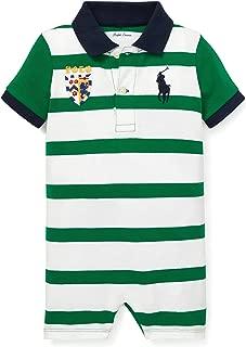 Ralph Lauren Baby Boys Striped Cotton Polo Shortall