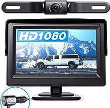 $39 » eRapta Backup Camera ERT01 with 4.3 inch Monitor License Plate Back Up Camera for Car Pickup Truck SUV Rear View Camera Ba...