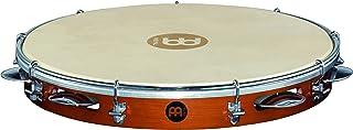 "Meinl Percussion 12 ""Pandeiro با قاب چوبی سنتی و زنگ های فولادی روکش شده با کروم - در چین ساخته نمی شود - سر پوست بز قابل تنظیم ، گارانتی 2 ساله ، قهوه ای (PA12CN-M)"