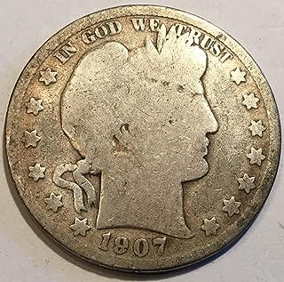 1907 S Barber Half Half Dollar Good
