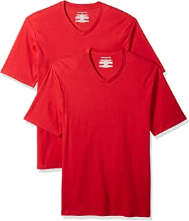 Amazon Essentials Men's 2-Pack Loose-Fit Short-Sleeve V-Neck T-Shirt