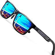 ATTCL Men's Retro Driving Polarized Sunglasses Al-Mg Metal Frame Ultra Light
