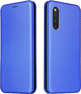Phone Flip covers لحالة Samsung Galaxy A41، ألياف الكربون الفاخرة PU و TPU Hybrid حالة حماية كاملة صدمات الوجه حالة الغطاء...
