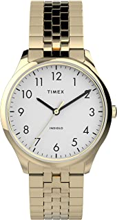 Women's Modern Easy Reader 32mm Watch – Gold-Tone Case White Dial with Expansion Band