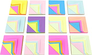 4A Magic Cyclic Sticky Notes,4 Neon Color Assorted, Each Color Sheets Cyclic,Self-Stick Notes,3 x 3 Inches,100 Sheets/Pad,12 Pads/Box,4A 303M-PNx12
