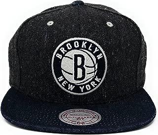Mitchell & Ness Brooklyn Nets Tweed Demin Strapback Hat