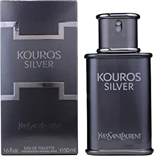 Yves Saint Laurent Kouros Silver Eau de Toilette Spray for Men 1.6 Ounce