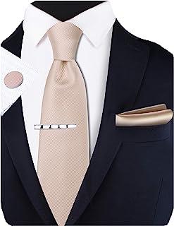 """مجموعه کلیپ های گردنبند کاملاً رنگی و دکمه سرآستین مربع جیبی GUSLESON New 3.15 """"8cm"""