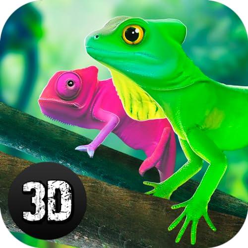 Gecko Lizards Against Colossal Comodo Dragon: Online Reptile Clan PvP Game simulator
