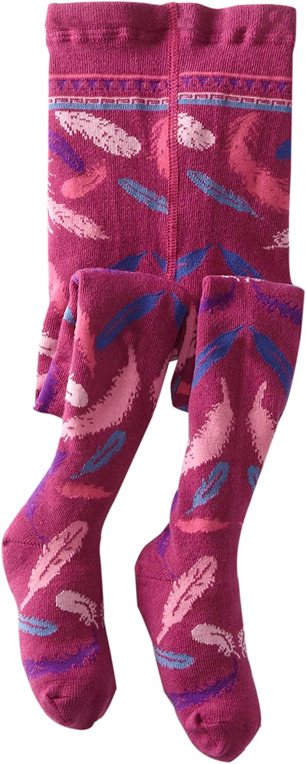 Jefferies Socks Little Girls' Feather-Printed Tight