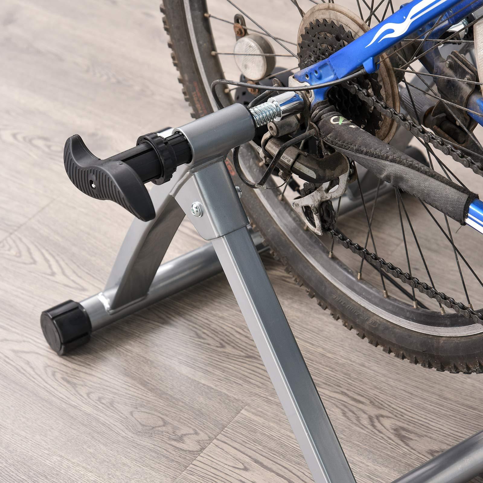 HOMCOM Rodillo Entrenamiento Bicicleta 5 Niveles de Resistencia ...