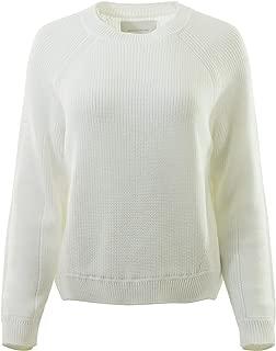 Brochu Walker Johan Crewneck Sweater in Salt White