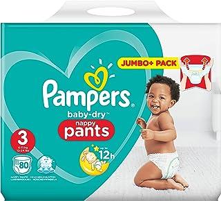 Pampers 81666871 pañal desechable Niño/niña 3 80 pieza(s) - Pañales desechables (Niño/niña, Pant diaper, 6 kg, 11 kg, Multicolor, 12 h)