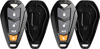 KeylessOption Keyless Entry Remote Control Starter Car Key Fob Case Shell Outer Cover Button Pad For Viper EZSDEI7141 474V...