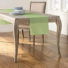LA Linen Polyester Poplin Table Runner 14 by 108-Inch, Sage