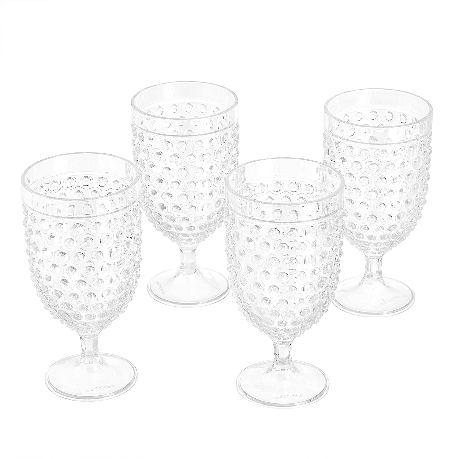 Amazon Basics Tritan Hobnail Texture Footed Glasses 1 - Tea Free shipping anywhere in Tucson Mall the nation Iced