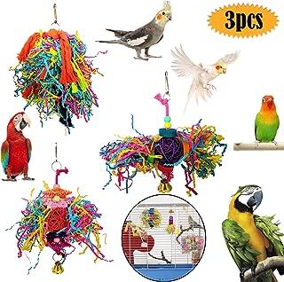 Juguete para Loros as Creative Foraging Systems Pelota dosificadora de premios guacamayos peque/ños periquitos Dorados y cacat/úas ninfas yacos