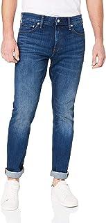 Calvin Klein Jeans Men's Ckj 026 Slim Low Rise Jeans, Lahemma Blue, 32